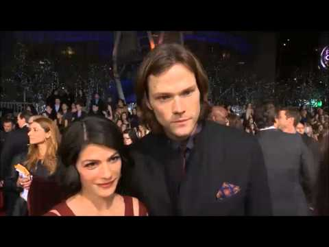 Jared and Genevieve Padalecki at the PCA Red Carpet