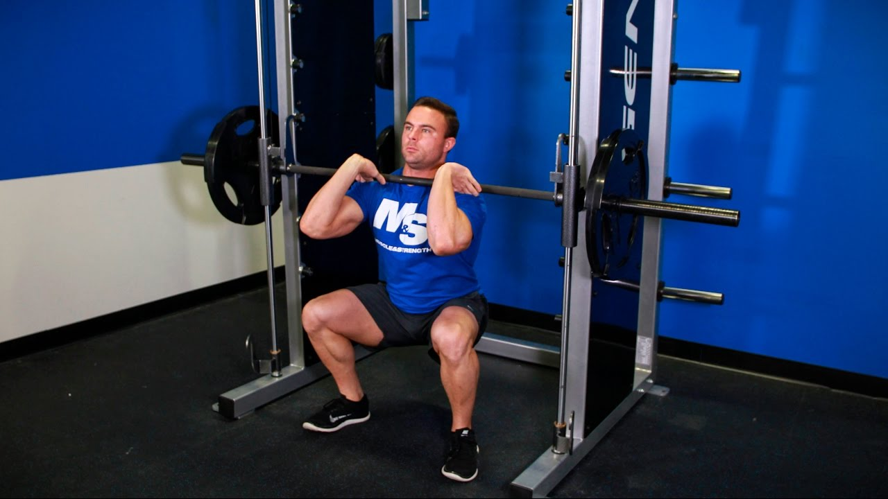 Smith Machine Front Squat Video Exercise Guide Tips