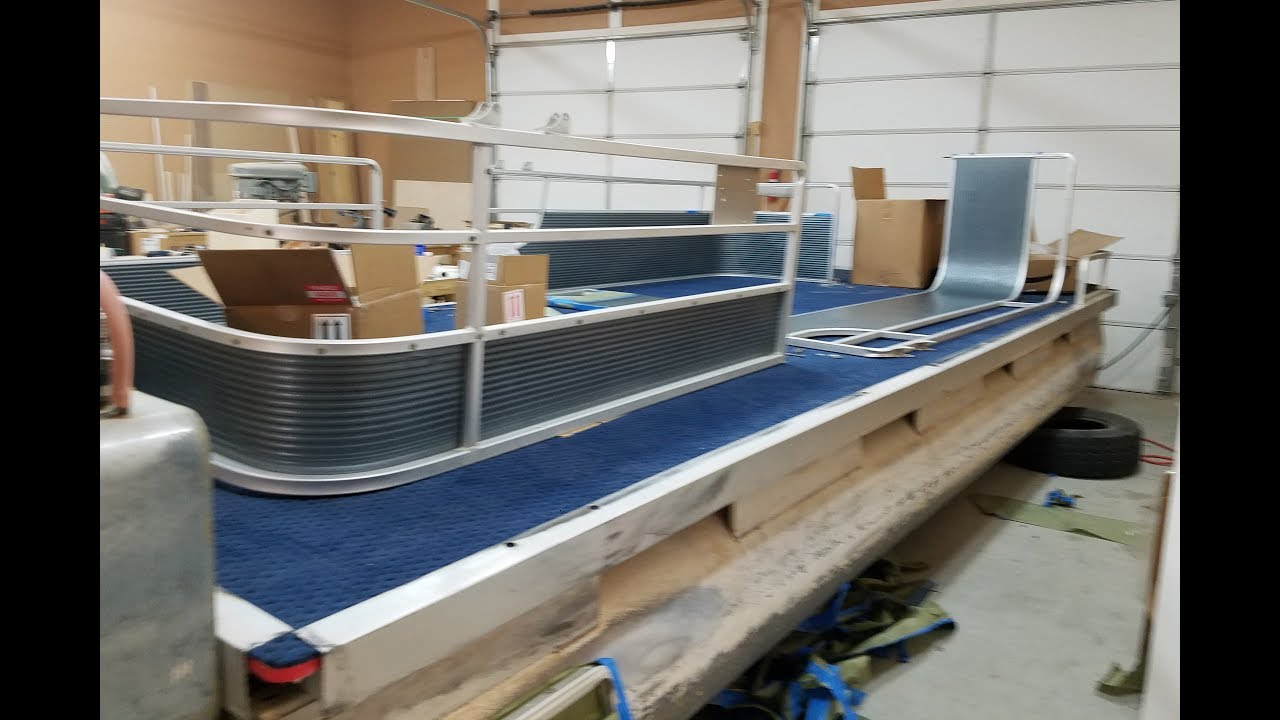 Craigslist Pontoon Boat: Painting & Installing Fencing ...