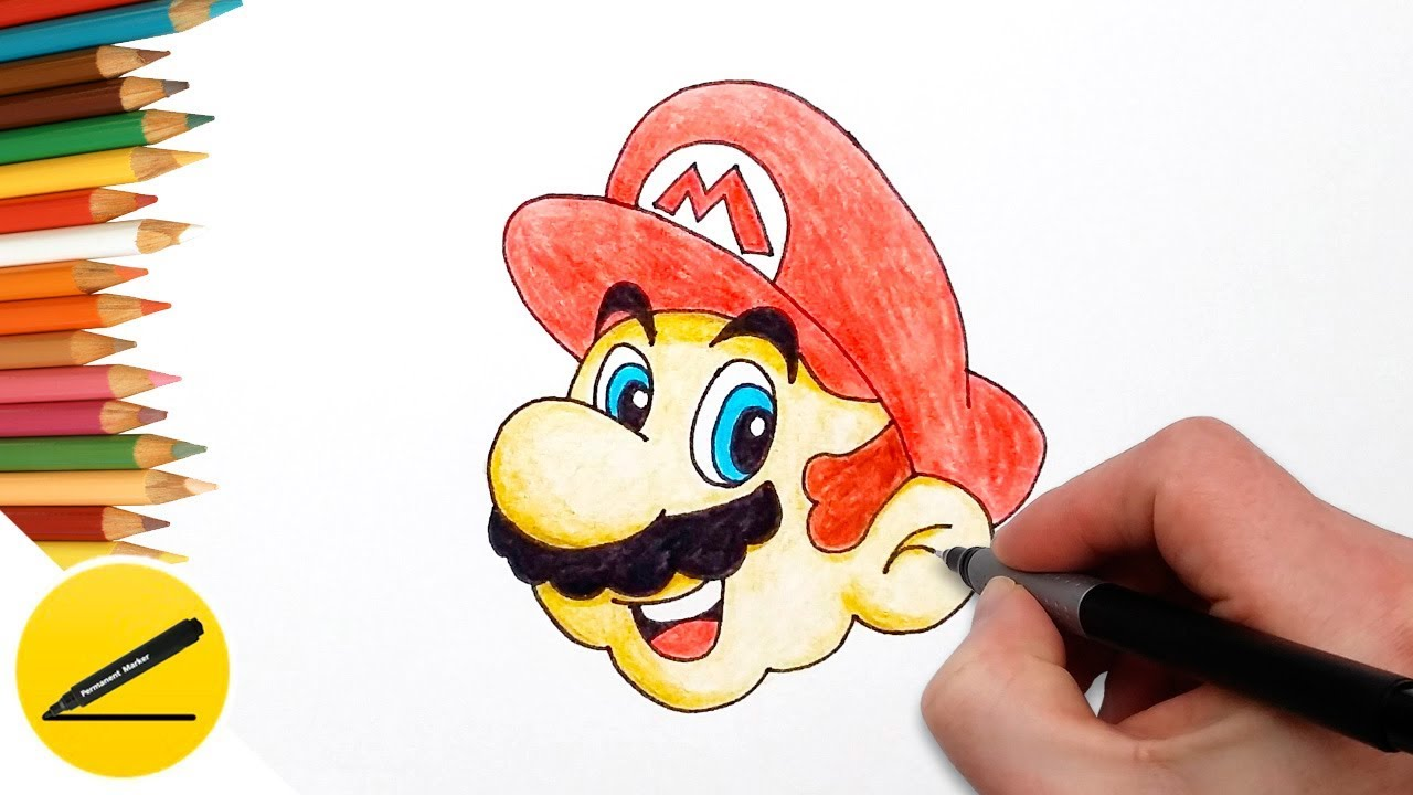 How To Draw Mario Super Mario Odyssey Step By Step Easy Drawing
