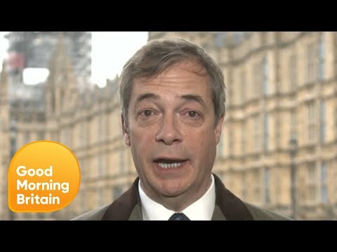 Nigel Farage Reacts on the Vote to Delay Brexit   Good Morning Britain
