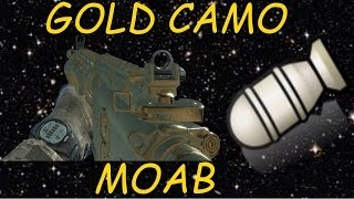 MW3: MOAB w/ Every Camouflage #6: Gold | 37-0 Flawless M4A1 MOAB! (Track Career)