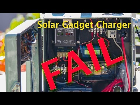 Solar Gadget Charger Fail