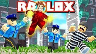 Roblox - UM SUPER-HERÓI E 2 POLICIAS !! ( MadCity Roblox )