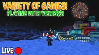 🔴 ROBLOX NEW YEARS STREAM! (Playing Games w/ Viewers!)