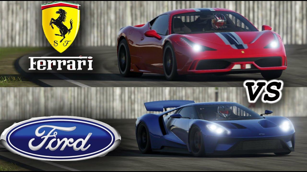 2017 Ford Gt Vs 2015 Ferrari 458 Speciale Top Gear Track
