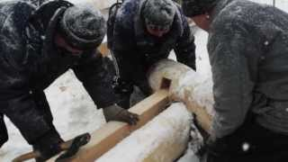 Строительство деревянного дома 9х12 проект Рябина