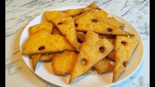 Сырное Печенье / Печенье из Сыра / Крекер / Cheese Biscuits  / Очень Простой Рецепт(Вкусно и Быстро)