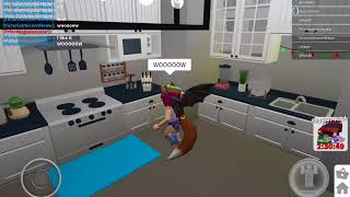 Playing roblox|showing u my house and other house's