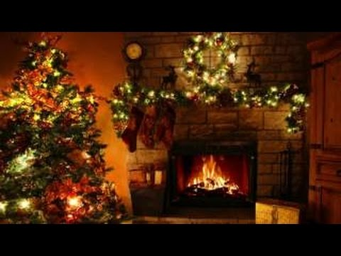 Christmas Fireplace And Crackling Fire For A Warm Ambience