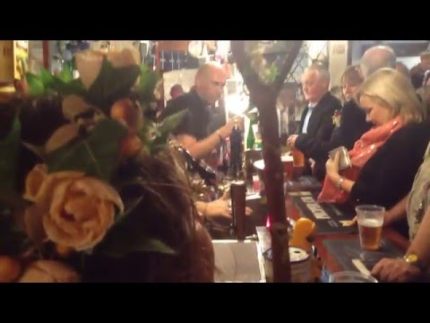 Singing in the London Inn, Padstow mayday 2016.