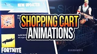 Fortnite - *NEU* Leaked SHOPPING CART Animationen [HD]
