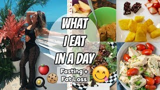 WHAT I EAT IN A DAY | FASTING + FAT LOSS 🍴