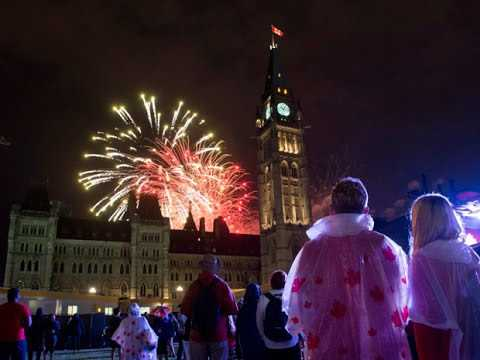 happy new years 2017 fireworks in canada ottawa