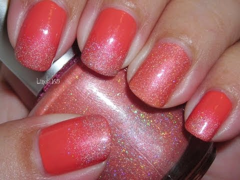 Quick Mani # 3 - Frosted Peach Nail Art - Decoracion de ...