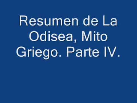 Resumen de La Odisea, Mito Griego.  Parte IV.