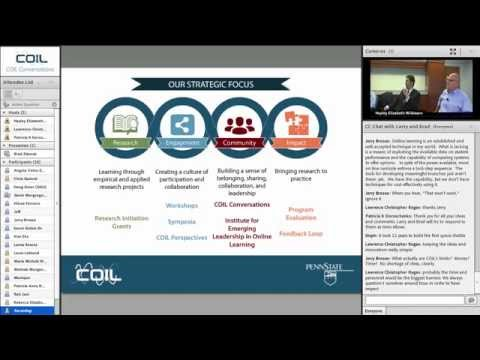 Stimulating Innovation in Online Learning - A conversation with Larry Ragan and Brad Zdenek