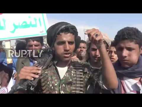 Yemen: Thousands demonstrate after Houthi political chief al-Samad killed in airstrike