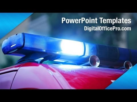 Police Car Powerpoint Template Backgrounds Digitalofficepro