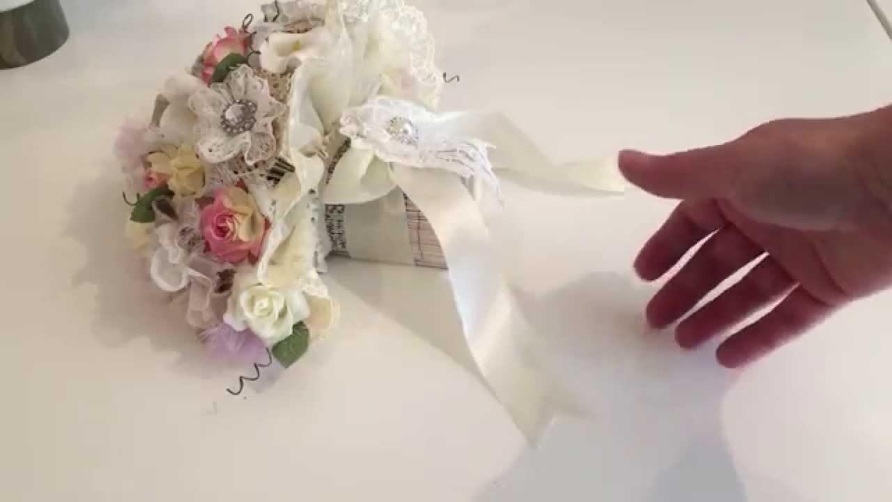Shabby Chic Wedding Bouquet Book Folding Pattern Pt3 Youtube