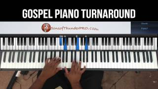 Gospel Piano Turnaround