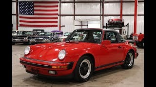 1988 Porsche 911 Carrera Red Paint Video