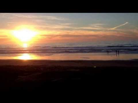 Pomponio state beach beautiful sand and sunset south of San Francisco