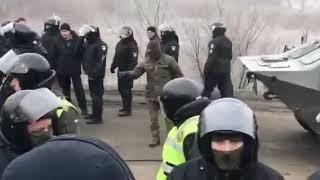Протести під Новими Санжарами. Люди бояться коронавірусу