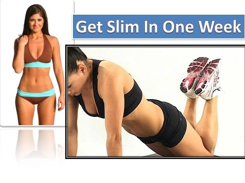 How to Get Slim in a Week Without Exercise