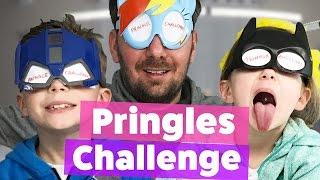 PRINGLES CHALLENGE - Wer kann blind besser schmecken 🙈  mit Lulu&Leon - Family and fun