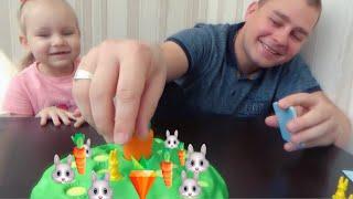 ВЫДЕРНИ МОРКОВКУ  Играем в ПРИКОЛЬНУЮ игру для всей семьи Развлечение для детей