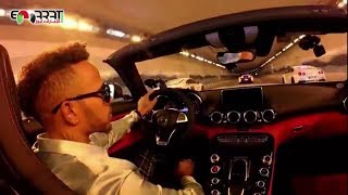 Lewis Hamilton - in a challenge  with Top Police Cars in Dubai 2018