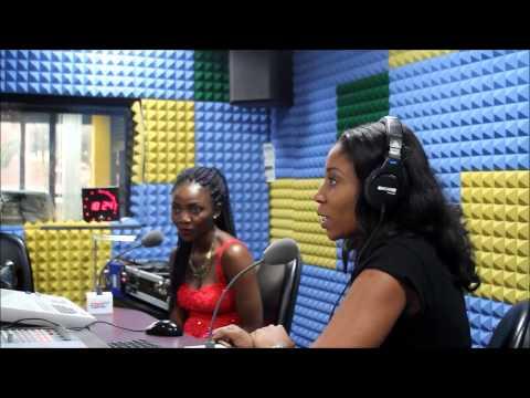 Simi with Kaylah Oniwo on 96.9 Cool Fm Lagos.