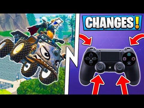 *ALL* Fortnite 6.1 Changes! | Quadcrasher Gameplay, Controller Big Change, Update!