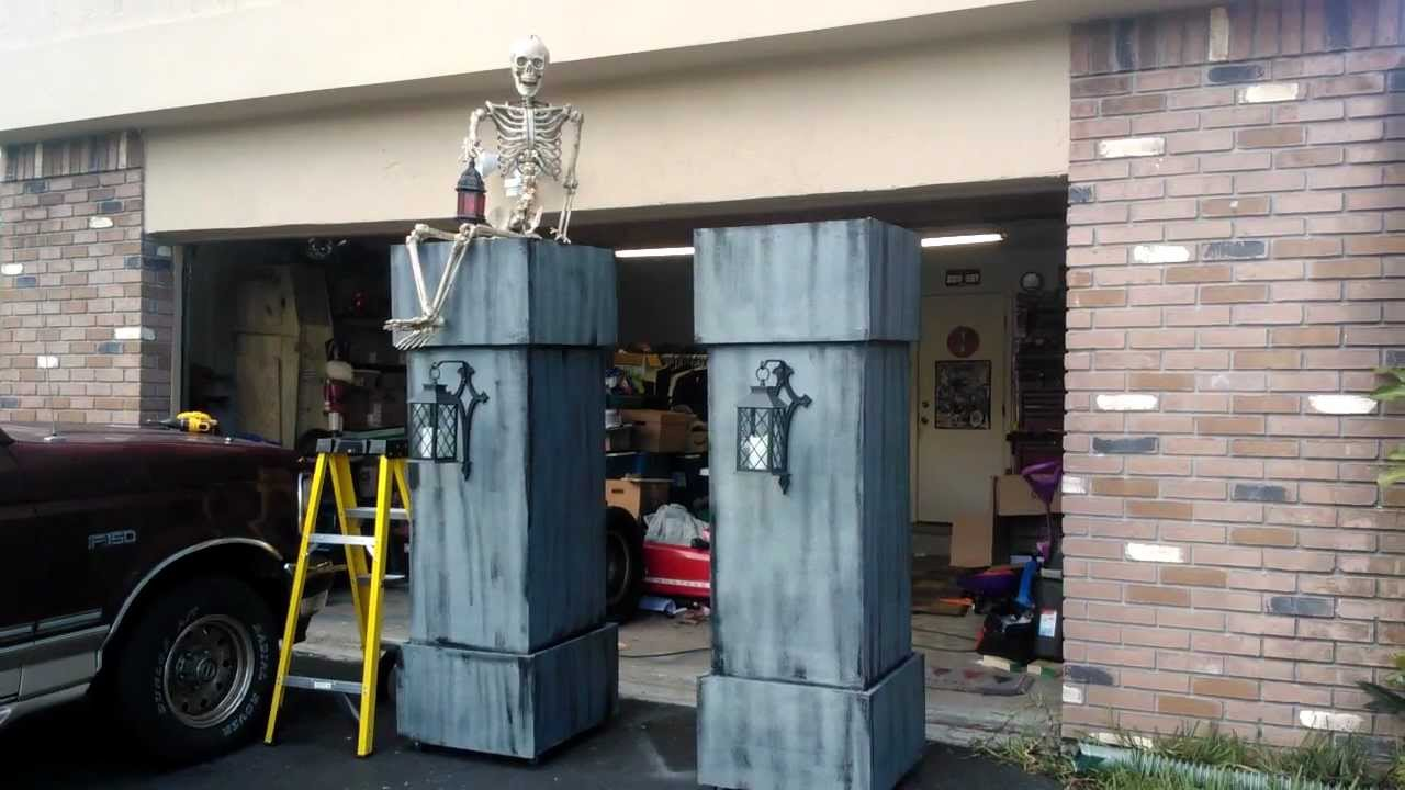 My Halloween Cemetery Columns 2012 Youtube