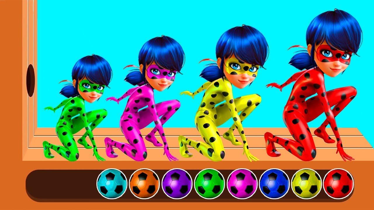 Los Colores En Español Con Ladybug Caricaturas Para Niños Videos Infantiles