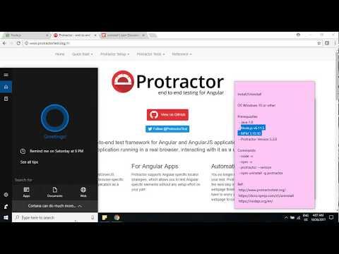Install Uninstall Node.js v6.11.5 NPM 3.10.10 and Protractor Version 5.2.0 in Windows 10