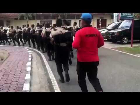 LARI SIANG SISWA BINTARA POLISI SPN PEKANBARU
