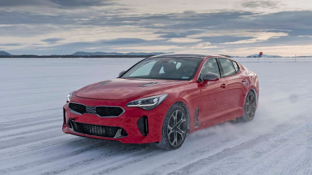 2018 kia stinger gt winter drive sweden. Black Bedroom Furniture Sets. Home Design Ideas