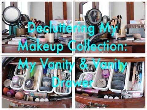 Decluttering My Makeup Collection: My Vanity & Vanity Drawer