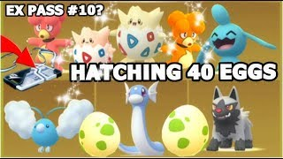 WILL IT BE SHINY? HATCHING 40 EVENT EGGS IN POKEMON GO | EX PASS #10? | SHINY BULBASAUR
