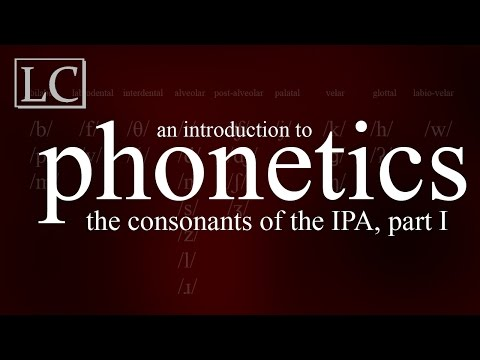 An Introduction to Phonetics: The Consonants of the IPA, Part I