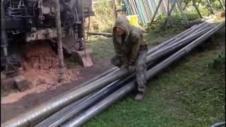видео бурение скважин под воду