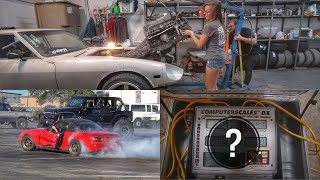 Weighing the Turbo Miata Before The LS Swap + 260Z 1JZ Motor pull!