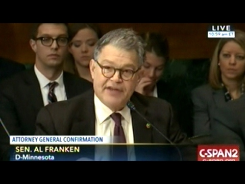 Senator Al Franken Destroys Jeff Sessions Before Committee Votes For Him To Be Next Attorney General