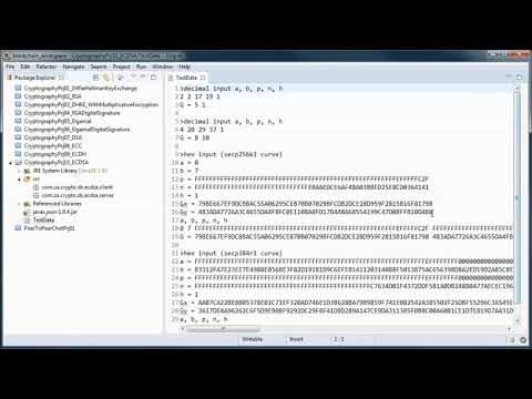 Elliptic Curve Digital Signature Algorithm (ECDSA) - Public Key Cryptography W/ JAVA  (tutorial 10)