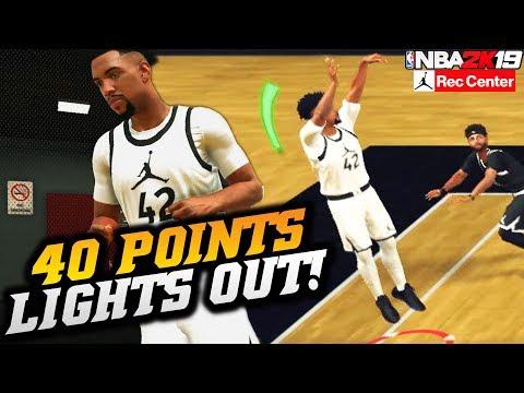 NBA 2K19 Jordan Rec Center: 40 Points With The Best Custom Jumpshot! NBA 2K19 JRC Gameplay