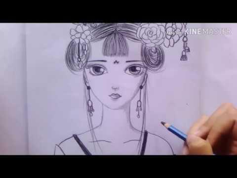 วาดรูปการ์ตูนอนิเมะจีน #วาดรูปง๊ายง่ายbyพี่ส้ม