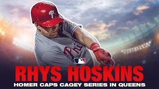 Hoskins homer ends heated Mets-Phillies series