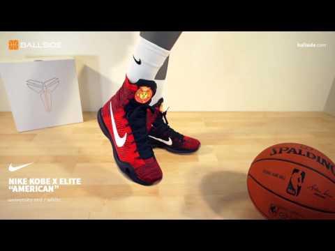 531f6011184 Nike Kobe X Elite American on feet - YouTube